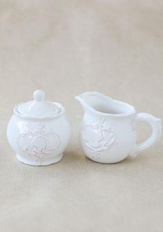 Chatsworth House Cream  Sugar Set at #Ruche @Ruche
