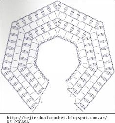 Discover thousands of images about Irish lace, crochet, crochet patterns, clothing and decorations for the house, crocheted. IG ~ ~ crochet yoke for girl's dress ~ pattern diagram Elegant dresses + crochet skirt of tulle. Crochet Diy, Poncho Crochet, Col Crochet, Crochet Baby Dress Pattern, Crochet Fabric, Crochet Girls, Crochet Diagram, Crochet Chart, Crochet For Kids