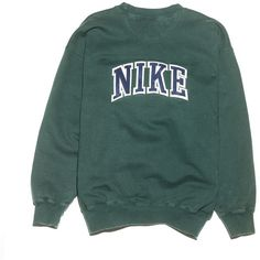 Nike Check Sweatshirt Perennial Merchants (€22) ❤ liked on Polyvore featuring tops, hoodies, sweatshirts, sweaters, clothing - ls tops, nike, sleeve top, cotton sweatshirts, green sweatshirt and nike top