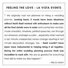 fabulous vancouver wedding Our favorite day of the week... Testimonial Tuesday  This time we're throwing it back to 2014 and sharing some kind words from our groom & groom. #LaVistaEvents PS- what to read more? Check out our new hashtag #LaVistaLove or visit the link on our profile.  by @lavistaevents  #vancouverwedding #vancouverwedding