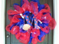Ole Miss Deco Mesh Wreath