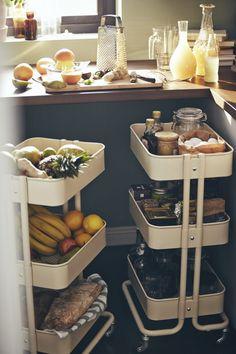 Kitchen/Dining Ideas Kitchen Ideas Ikea Raskog Cart 49 Ideas For 2019 What Is An Atomic Clo Kitchen Decor, Kitchen Inspirations, Best Ikea, Ikea Furniture, Diy Kitchen Storage, Small Kitchen, Home Kitchens, Kitchen Design, Ikea Kitchen