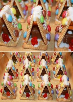 traktaties djim: Christmas Goodies, Christmas Desserts, Holiday Treats, Christmas Treats, Kids Christmas, Holiday Recipes, Christmas Houses, Xmas Food, Christmas Cooking