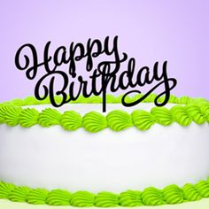 Happy Birthday Cake Topper- Top it all off with our Happy Birthday Cake Topper! It's a special detail that will easily coordinate with any party theme to complete the celebration! Each topper x is made from a durable, reusable acrylic ( Birthday Cake Gif, Happy Birthday Cake Topper, Birthday Cupcakes, Birthday Party Favors, Birthday Fun, Birthday Party Decorations, Birthday Invitations, Happy Birthday Wishes Images, Birthday Images