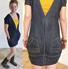Upside Down Jeans Dress