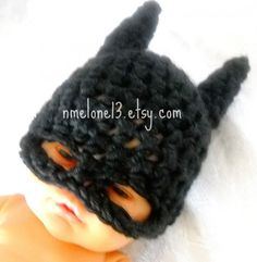 LMAO!!! Batman Baby Handmade Crochet Set Hat and Cocoon for your Superhero baby