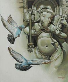 Godsspeaklovelanguage Lord Ganesha Paintings, Lord Shiva Painting, Ganesha Art, Krishna Art, Sri Ganesh, Ganesh Images, Ganesha Pictures, Lord Krishna Images, Om Gam Ganapataye Namaha