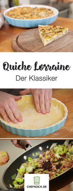 Quiche Lorraine ist ein echter Klassiker und gar nicht schwer zuzubereiten. Fabio zeigt euch im Video, wie es geht.