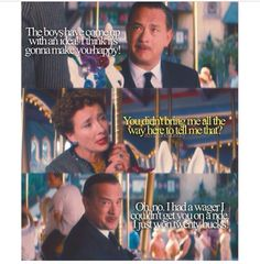 Saving mr. Banks... Love this part, love this movie! I cried then laughed then cried like a baby and then laughed again!!!
