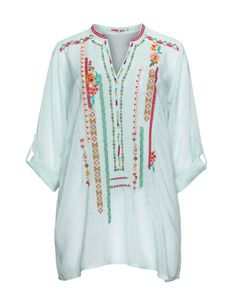 Embroidered tunic by Johnny Was. Shop now: http://www.navabi.co.uk/tunics-johnny-was-embroidered-tunic-mint-versicolour-31458-9205.html?utm_source=pinterest&utm_medium=social-media&utm_campaign=pin-it