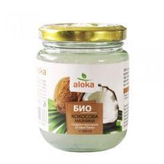Био олио, зехтин, масла : Био студено пресована кокосова мазнина 200 мл Aloka