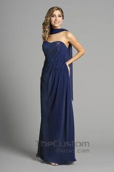 Sheath Strapless Floor-length Chiffon Satin Bridesmaid Dresses 14305327