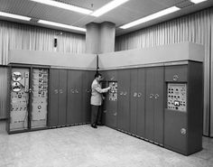 A state-of-the-art computer in 1957. This machine, built by the Westchester-based Ramo-Wooldridge Corporation, performed missile flight simulations.