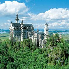 Neuschwanstein Castle, Romantic Road near Fussen, Germany. (The original Cinderella castle)