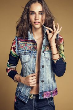 Denim: Exotic Jeans Desigual Jacket Ethnic Deluxe