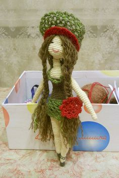 My first crochet doll) by Elena~, via Flickr
