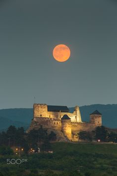 The castle of Boldogko, Hungary, at full moon by Gabor Pozsgai on 500px