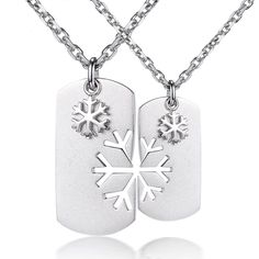 Snow Love S925 Silver Couple Necklaces - Lovers Necklaces