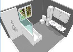 Discreet rendered bathroom decor dig this Interior Exterior, Bathroom Interior Design, Reupholster Furniture, Beautiful Interior Design, Master Bathroom, Bathroom Inspo, Bathroom Layout, Home Deco, Sweet Home