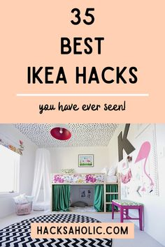 The best Ikea hacks we could find. There are so many great Ikea hack ideas here that will inspire your own projects. #ikeahacks #ikeahack #bestikeahacks Ikea Furniture Hacks, Cheap Furniture, Unique Furniture, Desk Hacks, Ikea Hacks, Ikea Vittsjo, Ikea Kura, Ikea Products, Ikea Alex