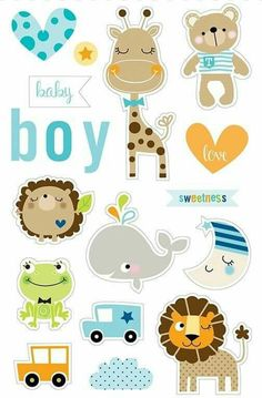 Bella Blvd Cute Baby Boy Ciao Chip Icons Self Adhesive Chipboard Scrapbook Bebe, Baby Boy Scrapbook, Scrapbook Stickers, Planner Stickers, Scrapbook Supplies, Baby Shawer, Cute Baby Boy, Baby Art, Dibujos Baby Shower