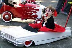 Now that's a peddle car!