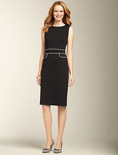 Talbots - Piped Refined Ponte Knit Dress