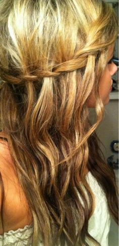 Love My Hairstyle: How To: Half Up Waterfall Braid