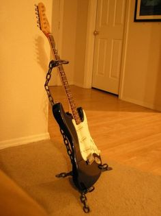 Welded+Chain+Guitar+Stand+by+twentyfiveover+on+Etsy