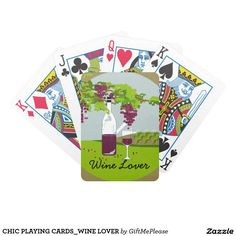 CHIC PLAYING CARDS_WINE LOVER BICYCLE PLAYING CARDS