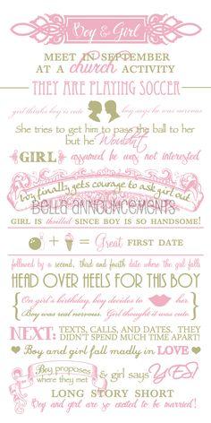 Story Wedding Card, Story Card