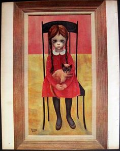1963 Margaret Keane painting (from a page in a magazine)