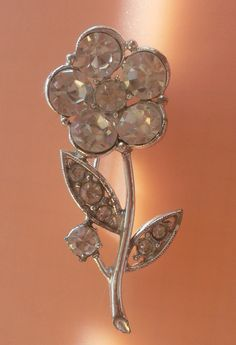Vintage Brooch 1950  A flower of crystals from by RAKcreations, $37.00