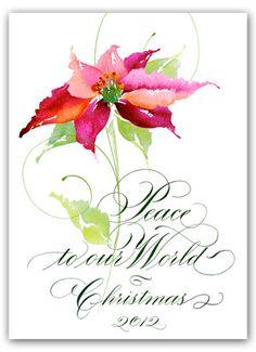 Pat Blair love love this! Painted Christmas Cards, Watercolor Christmas Cards, Christmas Images, Watercolor Cards, Christmas Art, All Things Christmas, Watercolor Flowers, Watercolor Paintings, Watercolour