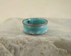 Copper Enamel Ring