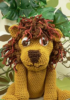 Maybe this is what I will do for Nate and Brittany's baby.     Love this lion! Free pattern.