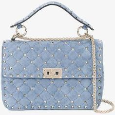 valentino rockstud spike bag blue suede - Google Search