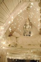 Victorian Sleeping Loft by Sandra Fosterindi.  I want my bedroom to look like this little cottage.