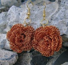 Interesting: three strands of reclaimed copper wire crocheted together, each strand as fine as hair.