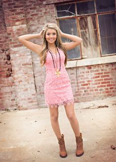 Spring Style at SteamRoller Blues  #pink #lacedress