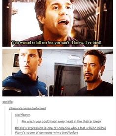 I'd have to agree with Tony's expression. This scene kills me now.