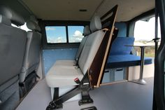 Removable Camper Units by Amdro - VW transporter Kombi Bed Vw T5 Kombi, Vw Transporter Campervan, Vw Transporter Conversions, Vw Transporter Shuttle, Camper Beds, Vw Camper, Sprinter Camper, Vw T5 Caravelle, Vw T5 Interior