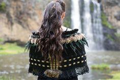 Black & Gold Contemporary Korowai (shawl)
