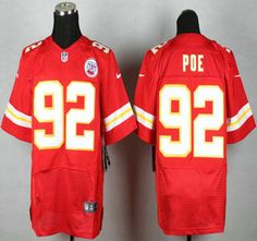 Nike Kansas City Chiefs Jersey 92 Dontari Poe Red Elite Jerseys