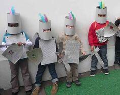 # ritterkostüm kindergarten Make a Knight Fairy Tale Theme, Fairy Tales, Costume Chevalier, Castles Topic, Castle Crafts, Castle Project, Activities For Kids, Crafts For Kids, Knight Costume