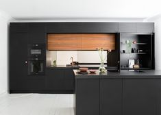 Again - new pictures for my dear client w/ Helsinki, Kitchen Furniture, Furniture Design, Black Kitchens, Modern Kitchens, Kitchenette, Kitchen Design, Kitchen Ideas, Kitchen Cabinets