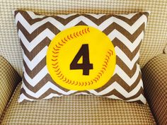 A personal favorite from my Etsy shop https://www.etsy.com/listing/225111761/custom-softball-pillow