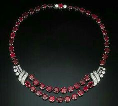 Exquisite Multi-shape Burma Ruby and Diamond Necklace | From… Conroy & Wilcox Ruby Ring