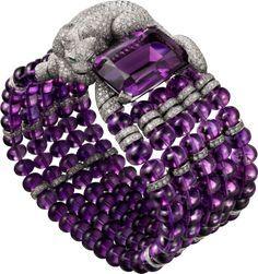 Cartier Bracelet. Amethysts and Diamonds.