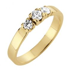 #Timanttisormus Maarianhamina - #MalminKorupaja. #Diamond ring by Malmin Korupaja. #Wedding #ring, #yellowgold.